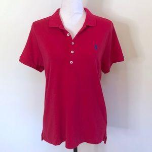 Ralph Lauren Logo Polo Shirt XL Short Sleeve Pink